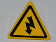Part No: 892pb020  Name: Road Sign 2 x 2 Triangle with Clip with Electricity Danger Sign Pattern (Sticker) - Set 5887
