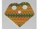 Part No: 90542pb02  Name: Minifigure, Poncho Half Cloth with Green and Red Mexican Print Pattern