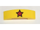 Part No: 93273pb065  Name: Slope, Curved 4 x 1 Double with Red Star with Black Outline Pattern
