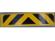 Part No: 93273pb111  Name: Slope, Curved 4 x 1 Double with Black Danger Stripes on Yellow Background Pattern (Sticker) - Set 60142