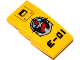 Part No: 93606pb047  Name: Slope, Curved 4 x 2 No Studs with Screws, Deep Sea Logo and 'E-01' Pattern (Sticker) - Set 60092