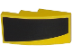 Part No: 93606pb049L  Name: Slope, Curved 4 x 2 with Thick Curved Black Stripe on Yellow Background Pattern Model Left Side (Sticker) - Set 75870