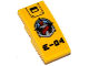 Part No: 93606pb054  Name: Slope, Curved 4 x 2 with Hatch, Deep Sea Logo and 'E-04' Pattern (Sticker) - Set 60095