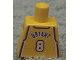 Part No: 973bpb131  Name: Torso NBA Los Angeles Lakers #8 Kobe Bryant Pattern