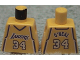 Part No: 973bpb152  Name: Torso NBA Los Angeles Lakers #34 (Yellow Jersey) Pattern