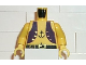 Part No: 973p30c01  Name: Torso Pirate Dark Purple Vest and Anchor Tattoo Pattern / Yellow Arms / Yellow Hands