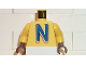Part No: 973pb0050c01  Name: Torso Nesquik Bunny Large 'N' Pattern / Yellow Arms / Brown Hands