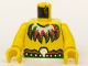 Part No: 973pb0062c01  Name: Torso Pirate Islanders with Feather Necklace Pattern / Yellow Arms / Yellow Hands