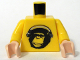 Part No: 973pb0478c01  Name: Torso Speed Racer Chimpanzee with Silver Headphones Pattern / Yellow Arms / Light Nougat Hands