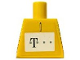Part No: 973pb0501  Name: Torso German Telekom Yellow Pattern (Stickers)