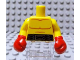 Part No: 973pb0929c01  Name: Torso Bare Chest with Body Lines and Black Boxing Belt Pattern / Yellow Arms / Red Boxing Gloves