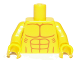 Part No: 973pb1095c01  Name: Torso Bare Chest with Muscles and Ribs Outline Pattern / Yellow Arms / Yellow Hands