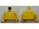 Part No: 973pb1522c01  Name: Torso Female Shirt with Number 5 Pattern / Yellow Arms / Light Flesh Hands