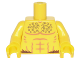 Part No: 973pb2212c01  Name: Torso Bare Chest with Muscles Outline and Curly Hair, Fur at Waist Pattern / Yellow Arms / Yellow Hands