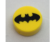 Part No: 98138pb065  Name: Tile, Round 1 x 1 with Black Bat Batman Logo Pattern