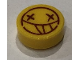 Part No: 98138pb112  Name: Tile, Round 1 x 1 with Smilie Face and X Eyes Pattern