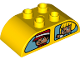 Part No: 98223pb024  Name: Duplo, Brick 2 x 4 Curved Top with Double Window with Girl / Taxi Driver and Girl / Rabbit Pattern