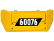 Part No: 98834pb03  Name: Vehicle, Spoiler 2 x 4 with Handle with '60076', Hatch and Screws Pattern (Sticker) - Set 60076