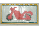 Part No: BA002pb01  Name: Stickered Assembly 8 x 1 x 3 1/3 with Motorcycle Sticker Pattern (Sticker) - Set 6373 - 2 Panels 1 x 4 x 3 and 1 Plate 1 x 8