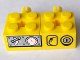 Part No: BA084pb01R  Name: Stickered Assembly 2 x 4 x 1 with Gauges Pattern Model Right Side (Sticker) - Set 7344 - 2 Brick 2 x 2 with Pin