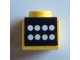 Part No: BA125pb01  Name: Stickered Assembly 1 x 1 x 2/3 with 8 White Buttons on Black Panel Pattern (Sticker) - Set 6695-1 - 2 Plate 1 x 1