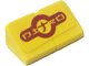 Part No: BA136pb03  Name: Stickered Assembly 2 x 1 x 2/3 with 'NITRO' on Yellow Background Pattern (Sticker) - Set 8666 - 2 Slope 30 1 x 1 x 2/3