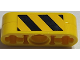 Part No: BA157pb01  Name: Stickered Assembly 3 x 1 with Black and Yellow Danger Stripes Pattern on Both Sides (Stickers) - Set 7905 - 2 Technic Liftarm 1 x 3 Thin