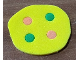 Part No: bb0934c01  Name: Foam, Scala Pizza with 2 Red and 2 Green Dots #3159