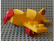 Part No: dplane3  Name: Duplo Airplane Small Wings on Bottom with Red Wheels and Red Propeller
