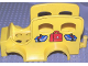 Part No: dupcarbody09  Name: Duplo Car Body School Bus with Books Pattern (fits over Car Base 2 x 6)