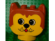 Part No: dupdoghead  Name: Duplo Animal Head Dog