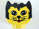 Part No: dupkittyheadpb1  Name: Duplo Animal Head Cat, Oblong Eyes