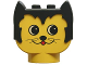 Part No: dupkittyheadpb2  Name: Duplo Animal Head Cat, Round Eyes