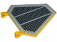 Part No: x1435pb001  Name: Flag 5 x 6 Hexagonal with SW Black Grille Pattern (Sticker) - Sets 7256 / 7283 / 7661