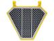 Part No: x1435pb025  Name: Flag 5 x 6 Hexagonal with SW Black Grille, Diagonal Cross Hatching Pattern (Sticker)