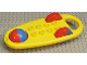 Part No: x1727c01  Name: Duplo Rattle Oblong with Red/Blue Wheels