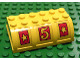 Part No: x517pb03  Name: Container, Trunk Lid 4 x 6 x 1 2/3 With Yellow Stars and Yellow #5 Pattern (Stickers) - Set 3681