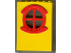Part No: x635c01  Name: Fabuland Building Wall 2 x 6 x 7 with Round Symmetric Red Window