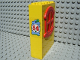 Part No: x635c01pb01  Name: Fabuland Building Wall 2 x 6 x 7 with Round Symmetric Red Window with '54' Pattern (Sticker) - Set 3654