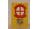 Part No: x635c01pb07  Name: Fabuland Building Wall 2 x 6 x 7 with Round Symmetric Red Window with Knife, Fork and Plate Pattern (Sticker) - Set 3672