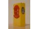 Part No: x635c01pb10  Name: Fabuland Building Wall 2 x 6 x 7 with Round Symmetric Red Window with '71' Pattern (Sticker) - Set 3672