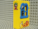 Part No: x637c01pb01  Name: Fabuland Building Wall 2 x 6 x 7 with Squared Blue Window with Garden Hose and No 74 Pattern (Sticker) - Set 3674