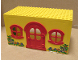 Part No: x661c01pb01  Name: Fabuland House Block with Red Door and Red Windows with Flowers Pattern (Stickers) - Sets 132-1 / 341-2