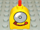 Part No: x836cx3  Name: Duplo Brick with Working Ringer Button on Curved Top, Fire Alarm Bell Pattern