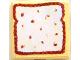 Part No: 3068bpb0207  Name: Tile 2 x 2 with Groove with Bread / Toast Pattern (Sticker) - Set 3123