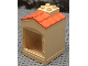 Part No: 31028pb01  Name: Duplo Building with Chimney, Cutout for Door / Window and Medium Orange Shingles