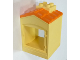 Part No: 31028pb02  Name: Duplo Building with Chimney, Cutout for Door / Window and Medium Orange Shingles