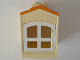 Part No: 31028pb02c01  Name: Duplo Building with Chimney, Cutout for Door / Window and Medium Orange Shingles Pattern with White Window (31028pb02 / 31022)