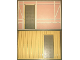 Part No: 6890pb01c01  Name: Scala Wall, Vertical Grooved 40 x 2 x 22 2/3 with Door, with Tudor Frame Light Salmon on White Pattern