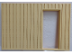 Part No: 6890pb02c02  Name: Scala Wall, Vertical Grooved 40 x 2 x 22 2/3 with Door, with Stripe White on Medium Orange Pattern